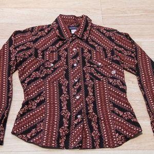 Patagonia Womens Button Down Pattern Shirt Organic